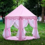 ONMIER-Pink-Princess-Castle-Kids-Play-Tent-Children-Playhouse-Great-Birthday-Gifts-For-1-10-Years-Old-Kids-Toys-Indoor-And-Outdoor-Use-LED-Light-Not-Include-0-2