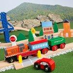 Orbrium-Toys-52-Pcs-Deluxe-Wooden-Train-Set-with-3-Destinations-Fits-Thomas-Brio-Chuggington-Melissa-and-Doug-Imaginarium-Wooden-Train-0-1