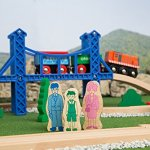 Orbrium-Toys-52-Pcs-Deluxe-Wooden-Train-Set-with-3-Destinations-Fits-Thomas-Brio-Chuggington-Melissa-and-Doug-Imaginarium-Wooden-Train-0-2