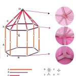 Otmake-Indoor-Easy-Assemble-Hexagon-Play-Tent-For-Children-Princess-Castle-Play-Tent-0-2