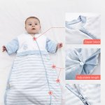 OuYun-Baby-Organic-Sleeping-Bag-Detachable-Sleeve-Wearable-Blanket-SpringAutumn-0-0