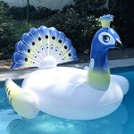 PRE-SEASON-DEAL-Deluxe-Inflatable-Pool-Float-Lounger-Xino-Sports-Giant-Peacock-Raft-with-2-Sturdy-Handles-Incredible-Fun-for-the-Whole-Family-Floatie-for-Pools-Lakes-or-the-Beach-0-1
