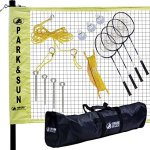 Park-Sun-Sports-Portable-IndoorOutdoor-Badminton-Net-System-with-Carrying-Bag-and-Accessories-Professional-Series-0
