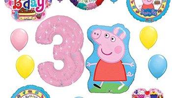 Peppa Pig 3rd Birthday Party Balloon Decoration Kit