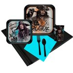 Pirates-of-the-Caribbean-Party-Supplies-Party-Pack-with-Favor-Cups-16-0