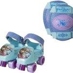 PlayWheels-Disney-Princess-Kids-Glitter-Rollerskate-Junior-Size-6-12-with-Knee-Pads-0
