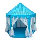 Porpora-Kids-IndoorOutdoor-Princess-Castle-Play-Tent-Fairy-Princess-Portable-Fun-Perfect-Hexagon-Large-Playhouse-Toys-for-GirlsBoysChildren-Toddlers-GiftPresent-Extra-Large-Room-55x-53DxH-0