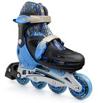 Premium-Roller-Skate-by-New-Bounce-4-Wheel-Inline-Rollerblades-for-Kids-Outdoor-Skating-for-Beginners-Advanced-Pink-Or-Blue-0