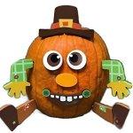 Pumpkin-Decor-Kit-Push-In-No-Carving-for-Fall-Halloween-Thanksgiving-2pk-Scarecrow-Turkey-0-2