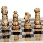 RADICALn-Handmade-Fossil-Coral-and-Black-Marble-Full-Chess-Game-Original-Marble-Chess-Set-0-2
