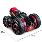 Remote-control-Stunt-Car-Double-face-work-30kmh-rapid-stunt-roller-car-all-terrian-suitable-for-competition-with-lightGreen-0-2