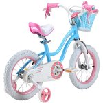RoyalBaby-Stargirl-Girls-Bike-with-Training-Wheels-and-Basket-Perfect-Gift-for-Kids-12-Inch-14-Inch-16-Inch-Blue-Pink-0-0