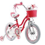 RoyalBaby-Stargirl-Girls-Bike-with-Training-Wheels-and-Basket-Perfect-Gift-for-Kids-12-Inch-14-Inch-16-Inch-Blue-Pink-0-2