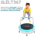 Serenelife-Portable-Foldable-Trampoline-36-dia-Springfree-Rebounder-Jumping-Mat-Safe-for-Kid-w-Padded-Frame-Cover-and-Handlebar-and-Carry-Bag-0-1