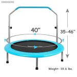 Serenelife-Portable-Foldable-Trampoline-40-dia-Springfree-Rebounder-Jumping-Mat-Safe-for-Kid-w-Padded-Frame-Cover-and-Adjustable-Handlebar-and-Carry-Bag-0-0