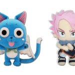 Set-of-2-Animation-Official-Fairy-Tail-Anime-Plush-Doll-Happy-Natsu-0
