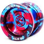 Sidekick-Yoyo-Pro-Black-Red-Blue-Splashes-Professional-Aluminum-UNresponsive-YoYo-0-0
