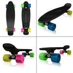 Skatro-Mini-Cruiser-Skateboard-22x6inch-Retro-Style-Plastic-Board-Comes-Complete-0-1