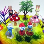Smurfs-and-Friends-Birthday-Cake-Topper-Set-Featuring-Smurf-Figures-and-Decorative-Themed-Accessories-0-0