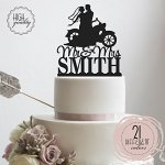 Sugar-Yeti-Brand-Made-in-USA-Custom-Cake-Toppers-Mr-Mrs-Motorcycle-Wedding-Cake-Toppers-Personalized-With-Last-Name-0