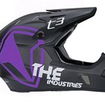 THE-Industries-Youth-T3-Carbon-Shield-BMX-and-Mountain-Bike-Helmet-BlackWhite-45-46cmSmall-0