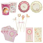 Talking-Tables-Pony-Party-Bundle-Designer-Plates-Napkins-Cups-Food-Picks-for-Horse-Themed-Party-0