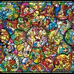 Tenyo-Disney-All-Characters-Stained-Glass-Jigsaw-Puzzle-2000-Piece-0