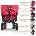 The-Best-Feature-Quality-NEW-4th-GENERATION-Collapsible-Folding-Wagon-with-Canopy-Padded-Bottom-Auto-Safety-Locks-Spring-Bounce-Brake-Stand-EVA-Wide-Tire-0-1