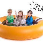 The-Shrunks-Inflatable-2-in-1-Safety-Bouncer-Pool-Portable-Indoor-or-Outdoor-Use-with-SOFT-bounce-for-Toddlers-Safety-Orange-72-x-72-inches-0-1