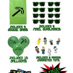 The-Ultimate-Party-Favors-for-Miner-Themed-Birthday-Party-8-Pack-of-Supplies-Fun-Party-Additions-Green-Pixelated-Glasses-Wristbands-Character-Toys-and-Balloons-will-make-the-Party-a-Success-0-0