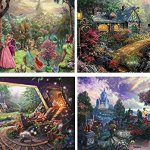 Thomas-Kinkade-The-Disney-Collection-4-in-1-Multi-Pack-500-Pieces-Each-Puzzle-Sleeping-Beauty-Mickey-Minnie-Mouse-Snow-White-Seven-Dwarfs-and-Cinderella-0