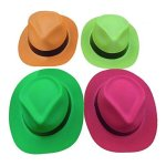 Tytroy-Neon-Color-Plastic-Gangster-Fedora-Party-Hats-for-Adult-Teens-and-Kids-Pack-of-48-0-2