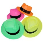 Tytroy-Neon-Color-Plastic-Gangster-Fedora-Party-Hats-for-Adult-Teens-and-Kids-Pack-of-48-0