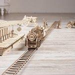 UGEARS-Bundle-3-in-1-Locomotive-Railway-Platform-Rails-Mechanical-3D-Puzzle-Eco-Friendly-Gift-Brainteaser-DIY-Teens-Adults-Boys-Kids-Toys-0-0