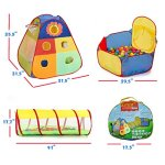 UTEX-Jungle-Gym-Kids-Tents-w-Basketball-Hoop-Tunnels-Ball-Pit-for-Boys-Girls-Babies-and-Toddlers-with-Zipper-Storage-Case-for-Indoor-Outdoor-Use-Iron-Print-0-2