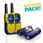 Walkie-Talkies-for-Kids-with-Kids-Binoculars-Set-Vox-Box-Voice-Activated-Kids-Walkie-Talkies-Long-Range-Radios-with-3-Mile-Range-and-6×21-Binoculars-for-Kids-with-Carry-Case-0