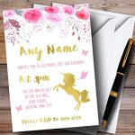 Watercolour-Pink-Gold-Floral-Unicorn-Childrens-Birthday-Party-Invitations-0