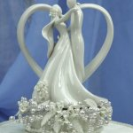 Wedding-Collectibles-Vintage-Rose-Pearl-and-Heart-Wedding-Cake-Topper-0-1