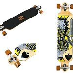 WiiSHAM-Professional-Speed-Downhill-Drop-Through-Complete-Longboard-Skateboard-With-Free-T-tools-0-0