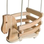 Wooden-Horse-Swing-Set-for-Toddlers-Smooth-Birch-Wood-with-Natural-Cotton-Ropes-Outdoor-Indoor-Swing-Eco-Conscious-Toddler-Bucket-Swing-Chair-For-Baby-6-Months-to-3-Years-Old-by-EcoTribe-0