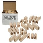 Wooden-Train-Track-100-Piece-Pack-100-Compatible-with-All-Major-Brands-including-Thomas-Wooden-Railway-System-By-Right-Track-Toys-0