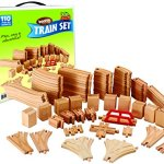 Wooden-Train-Track-Deluxe-Set-110-Pieces-100-Compatible-with-All-Major-Brands-Including-Thomas-Train-Wooden-Railway-System-By-Kids-Destiny-0