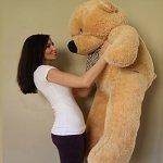Yesbears-Giant-Teddy-Bear-5-Feet-Tan-Color-Ultra-Soft-0-0