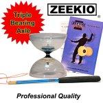 Zeekio-Spin-Master-Diabolo-Set-Triple-bearing-Fiberglass-Sticks-and-String-Crystal-Clear-0