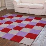 yazi-EVA-Foam-Anti-Slip-Foam-Puzzle-Floor-Play-Mat-Kids-Multicolored-Shapes-Puzzle-Play-Mat-Purple-Color-Set-of-9Each-tile-is-1-sqft-12-x-12-x-043-0-1