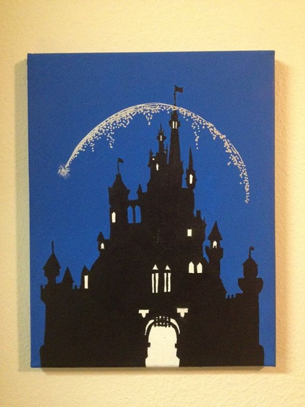 Peter Pan Silhouette Painting