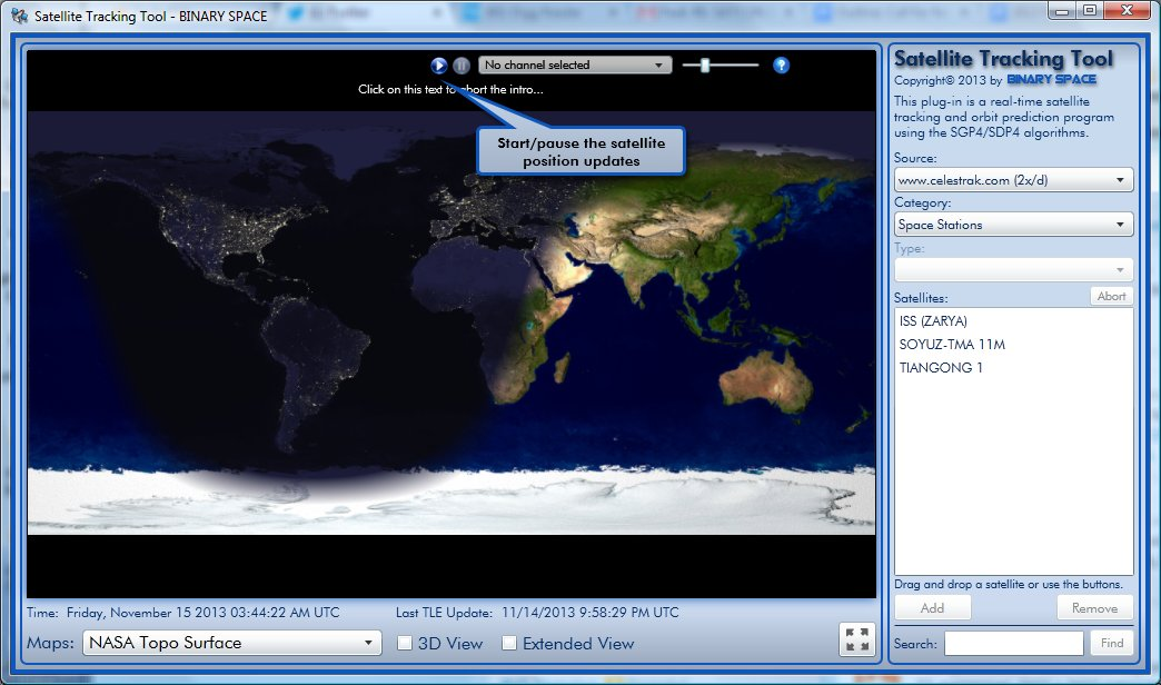 Binary Space Satellite Tracking Tool – now available in