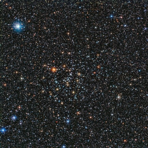 This rich view of a tapestry of colourful stars was captured by the Wide Field Imager (WFI) camera, on the MPG/ESO 2.2-metre telescope at ESO's La Silla Observatory in Chile. It shows a open cluster of stars known as IC 4651, a stellar grouping that lies at in the constellation of Ara (The Altar).