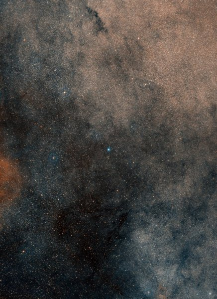 This wide-field image, based on data from Digitized Sky Survey 2, shows the whole region around the stellar grouping Terzan 5.