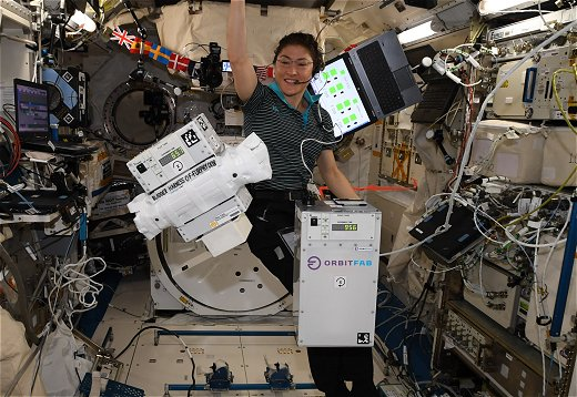 Orbit Fab water containers on the ISS